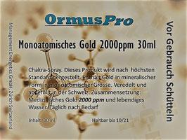 Monoatomisches Gold 2000 ppm 30ml