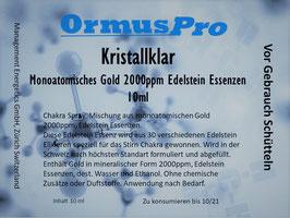 Kristallklar, Monoatomisches Gold 2000ppm und Edelstein Essenzen 10ml