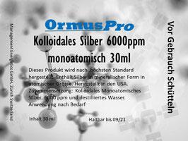 Kolloidales Monoatomisches Silber  6000ppm 30ml