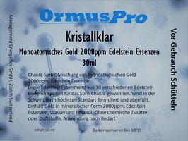 Kristallklar, Monoatomisches Gold 2000ppm und Edelstein Essenzen 30ml