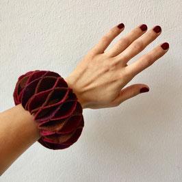 Burgundy Felted Bracelet