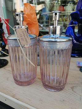 Seifenspender - rosa Glas