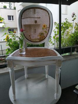 """Aufgearbeiteter Stuhl """"Pure"""" mit Wiener Geflecht - Einzelstück"""