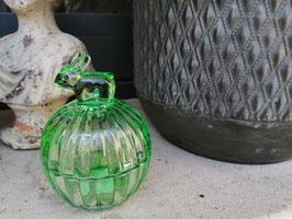 Greengate: Süsse Glasbehälter in grün mit Häschengriff - VERKAUFT