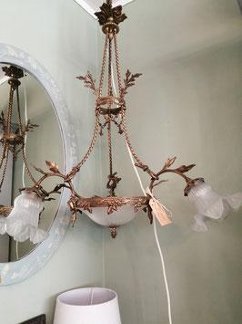 Original Lampe Art Nouveau dreiarmig - Einzelstück