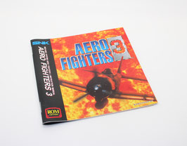 AEREO FIGHTERS III / SONIC WINGS 3   ソニックウィングス 3 MANUAL