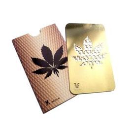 """Grinder Card """"Gold Leaf"""""""
