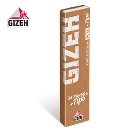 GIZEH PURE EXTRA FINE KING SIZE SLIM (34 Blättchen+ 34 Tips)