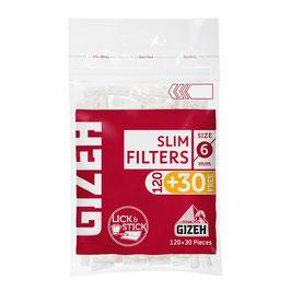 GIZEH Slim Filter (120+30Stk.)