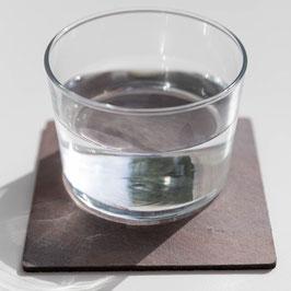 Untersetzer Set - Echtstein Rot/Grau