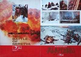 ネレトバの戦い(ユーゴ・西独・イタリア合作映画/プレスシート)