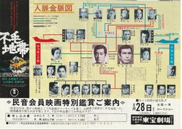 不毛地帯 人脈金脈図(東宝劇場/チラシ邦画)