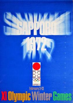 札幌オリンピック(タイトルSAPPORO 1972(白抜き)/大判サイズ・ワンシート/ポスター邦画)