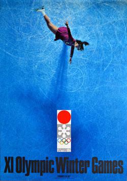 札幌オリンピック(リンクを回転する女子スケーター/大判サイズ・ワンシート/ポスター邦画)
