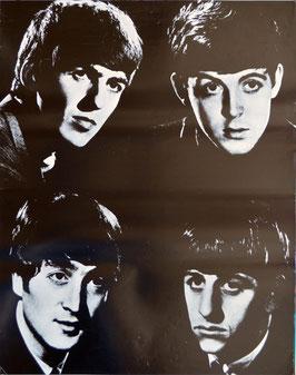 THE BEATLES(モノクロ・音楽ポスター)