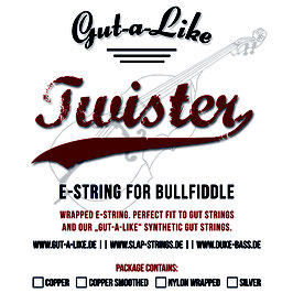 "Gut-a-Like ""Twister"" einzelne E-Saite"