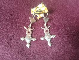 Boucles d'oreilles argent Touareg Croix d'Agadez