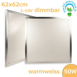 LED Panel 625x625 diffuse, 50W, Rahmen silber, warmweiss, 1-10V dimmbar
