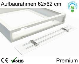 Aufbaurahmen Premium für alle 62x62cm LED Panele aus weiß lackiertem Aluminium
