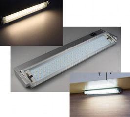 LED Unterbauleuchte V100 35cm 60 LEDs, 4W, 3000K, 326lm, 230V,silber