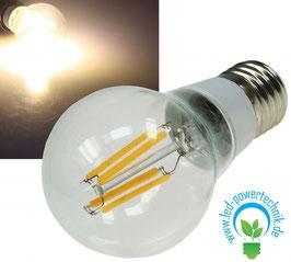 """LED Glühlampe E27 """"Filament"""" 3000k, 360lm, 230V/4W, warmweiß"""