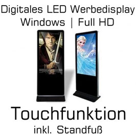 Digitales LED Werbedisplay Puma 55 | Touchfunktion