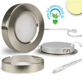 LED Ein- und Unterbauleuchte silber, 3W, 12V/DC, warmweiss Sys-Slim