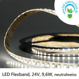 LED Stripes-Flexband, 24V, 9,6W, IP66, neutralweiss - 111911
