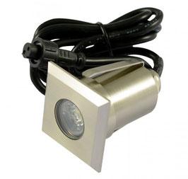 LED Bodeneinbaustrahler 1,5W quadratisch in-G-C IP67
