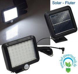 Solar - LED Fluter mit Bewegungsmelder 5 Watt  4200K, inkl. Solar-Zelle & Akku