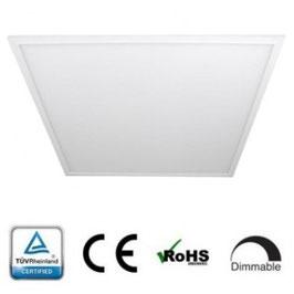 LED Panel 60x60cm, 40W, 3000K warmweiß, 3200 lm, dimmbar, Rahmenfarbe weiß
