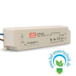 LED Trafo MW LPV 12V/DC, 0-60W, IP67