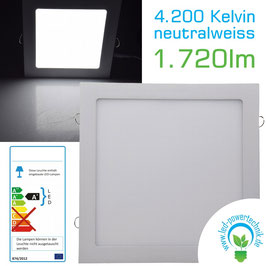 LED Panel 24W, 300x300mm, 4200K, neutralweiß, 1.720 Lumen
