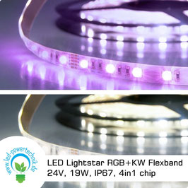 LED Lightstar RGB+KW Flexband 24V, 19W, IP67, 4in1 chip, 5 Meter