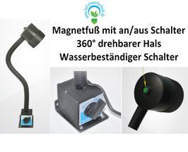 LED Maschinenleuchte Magneto 5W - IP65 | 24V | Schwanenhals mit Magnetfuß | 370 lm | 5500 - 6000 Kelvin - tageslichtweiß