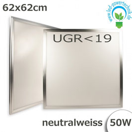 LED Panel 62,5 x 62,5cm, UGR<19, 50W, silber, neutralweiss