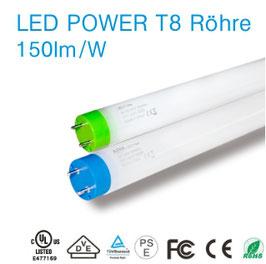 T8 LED POWER Tube - Röhre 24W 150lm/W bis zu 3.600lm