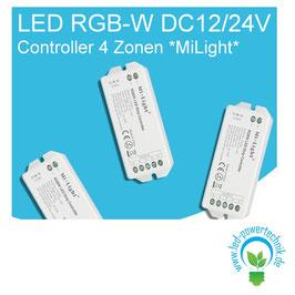 LED RGB-W DC12/24V Controller 4 Zonen