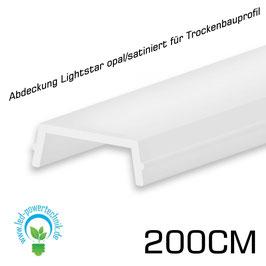 ABDECKUNG Lightstar OPAL - SATINIERT FÜR TROCKENBAUPROFIL, 200CM