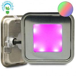 LED Bodenstrahler SLIM-OUT , quadr., IP67, edelstahl, RGB