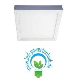 Aufbaurahmen für alle 30x30cm LED Panele weiß lackiert