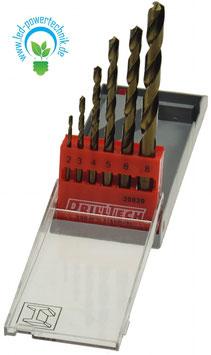 Stahl-Bohrer HSS Set 6 teilig / 2-3-4-5-6-8 mm