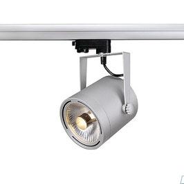 LED 3-Phasen Strahler EURO SPOT ES111, GU10, silbergrau
