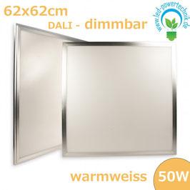 LED Panel 625x625mm diffuse, 50W, Rahmen silber, warmweiss, DALI dimmbar