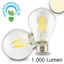 E27 LED Birne, 8W, klar, 1000lm, warmweiss