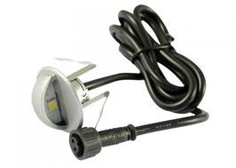 RGB LED Bodeneinbaustrahler 0,8W rund minimax IP65 90° SS