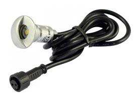 LED Bodeneinbaustrahler 0,3W  rund in-G IP65 90°