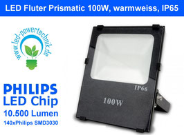 LED Fluter Prismatic 100W, warmweiss, IP65