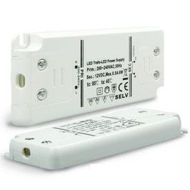 Trafo 12V/DC, 0-6W, ultraflach