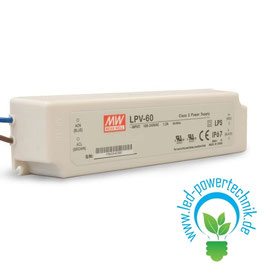LED Trafo MW LPV 24V/DC, 0-60W, IP67